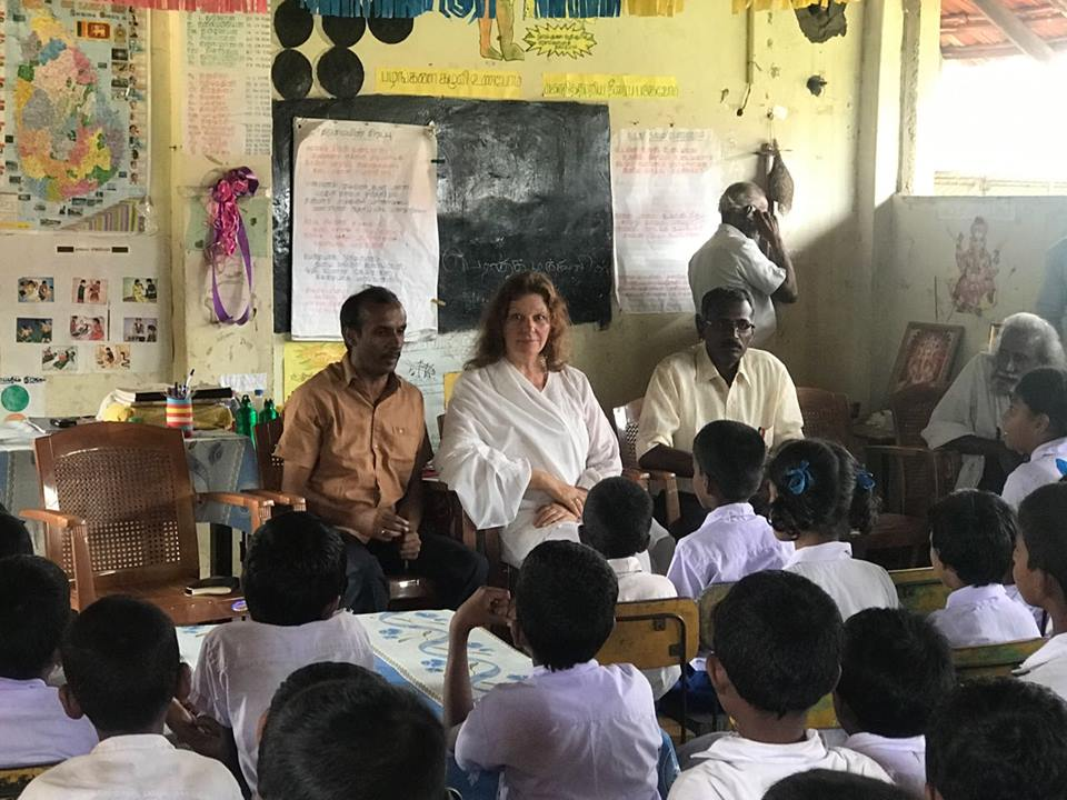 At our new Sunshine School project in the north of Sri Lanka with 96 children.