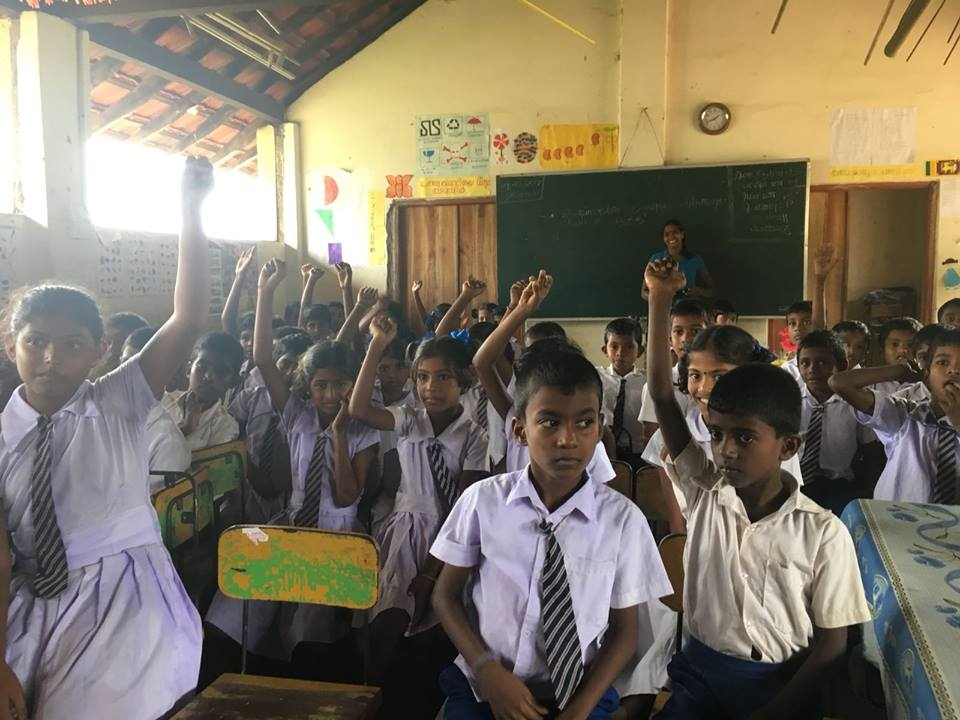 The lovely kids in our new Sunshine School project n the north of Sri Lanka.