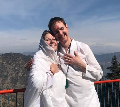 Padma Devi Sumananda, Founder of Heart Of Living Yoga and Vishwam Heckert, Heart Of Living Yoga Teacher and Teacher Trainer