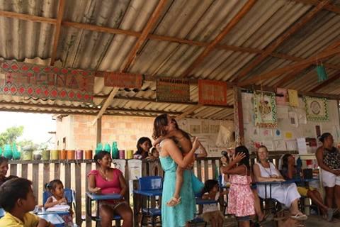 At the wonderful Tribal School near Manaus
