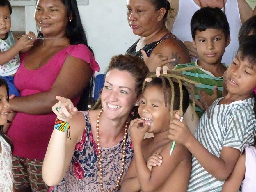 At the Tribal School near Manaus