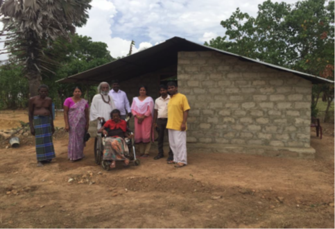 New brick house for wheelchair couple.