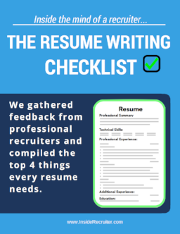 Resume Writing Checklist Landing Page — Professional Resume Writing ...