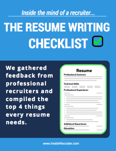 Top 5 Tips To Writing A Resume From A Resume Writer Professional