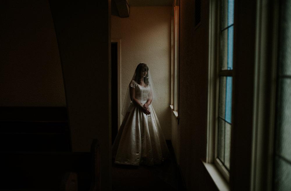 Vancouver Wedding Photographer - Bride by The Window Portrait