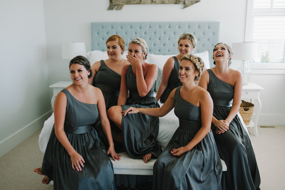 Vancouver Wedding Photographer - Bridesmaids On A Bed