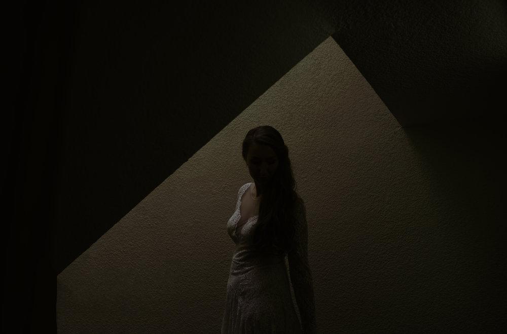 Vancouver Wedding Photographer - Bride In The Shadows