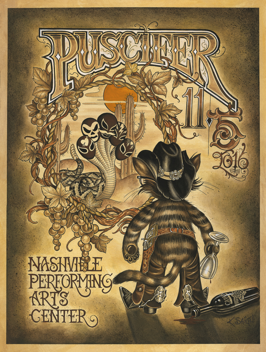 Concert poster for the band, Puscifer, 2016