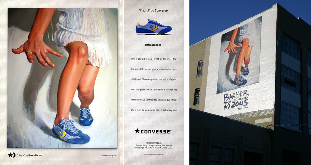 Artist Series, Ad campaign for Converse / Billboard in downtown, San Francisco, 2005