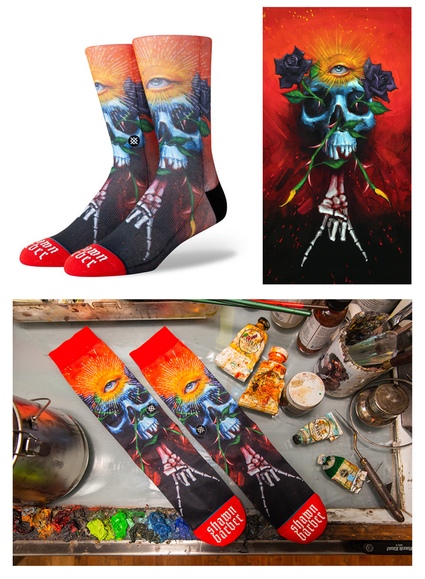 'Tattoo Artist Series', for Stance Socks,  2019