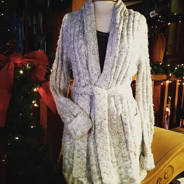 Cozy sweater robes, short or long. #LinenClosetstore, #OldtownEureka, #ChristmasGifts, #Cozy, #ForHer,