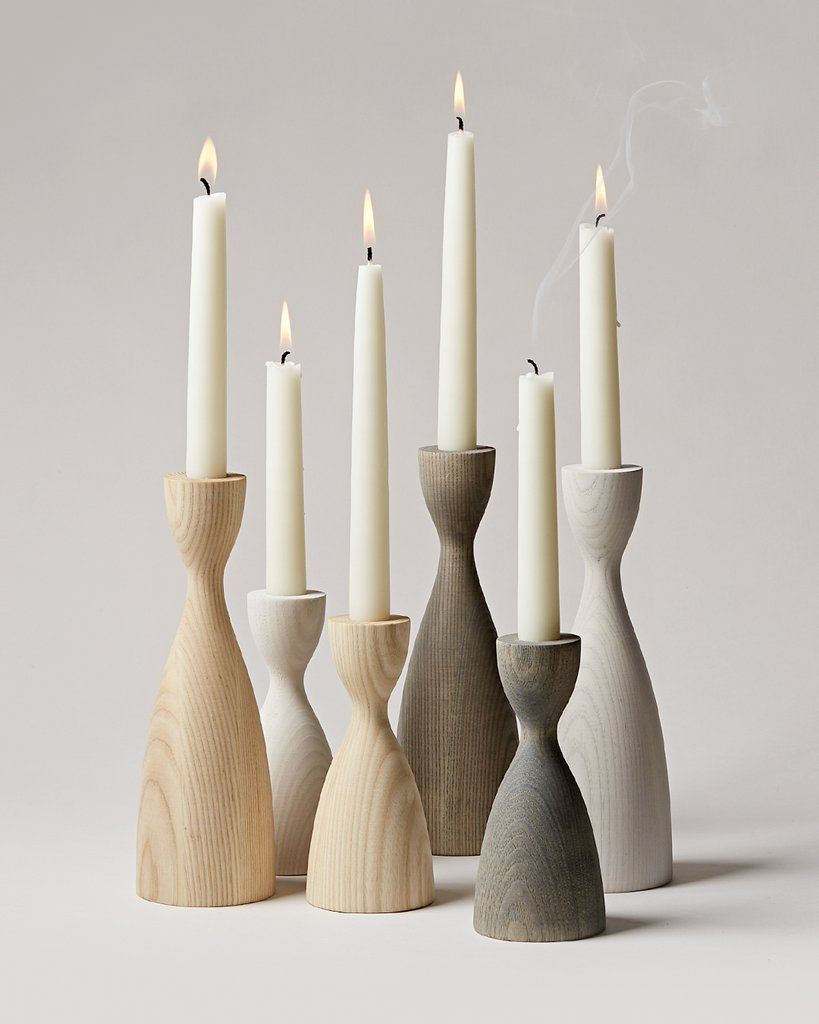 4/Farmhouse Pottery Candlesticks, $65+ - Simultaneously classic and modern these candlesticks set the scene for a sophisticated table top. Style just one, three or thirty on your dining table, sideboard or fireplace. These are handmade from New England Ash wood and are on our list for an easy gift for those in our life who are hard to buy for.Also make for the perfect first part of your festive table setting if you're working with natural textures and a simple palette.