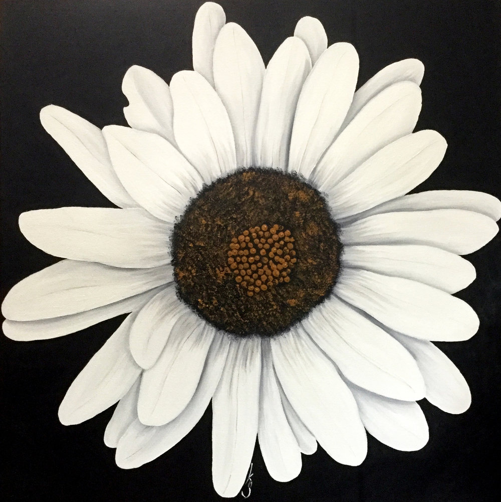 Daisy  2019 Oil on canvas 20 x 20 inches