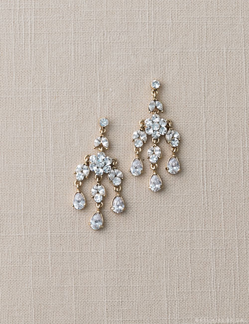 Rhinestone chandelier earrings the bustle bridal boutique rhinestone chandelier earrings aloadofball Images