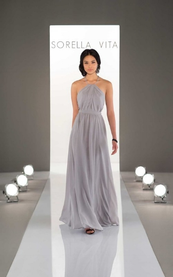 5. High necklines are in, and that's what makes this dress so unique! We love how elegant this look is.
