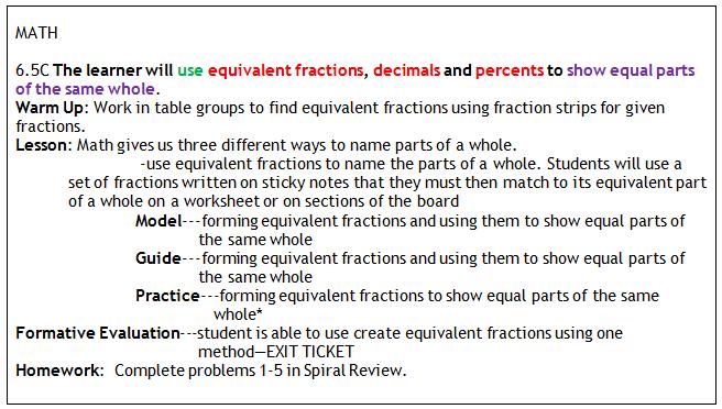 Basic lesson plan--EXAMPLE
