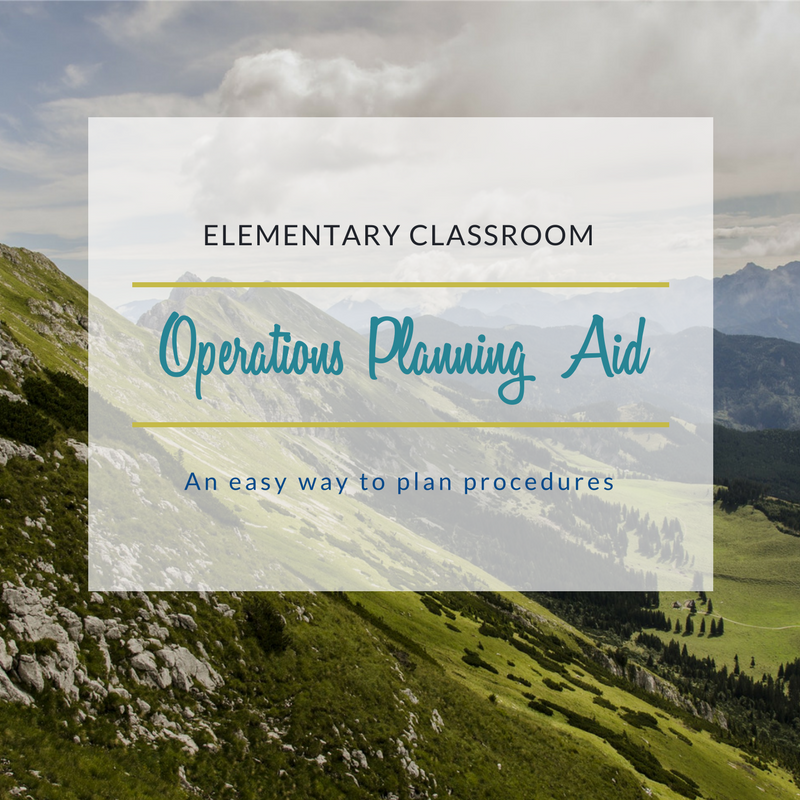 Elementary Classroom Management Planning Aid