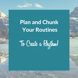 Teachers plan and chunk their routines.  Pin this!