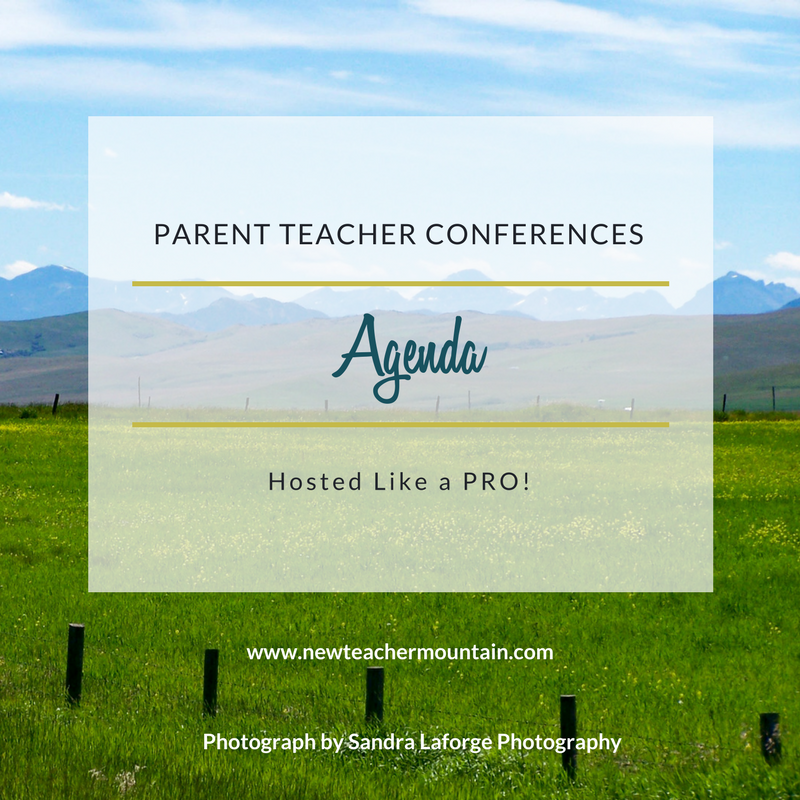 Agenda for Parent Teacher Conferences