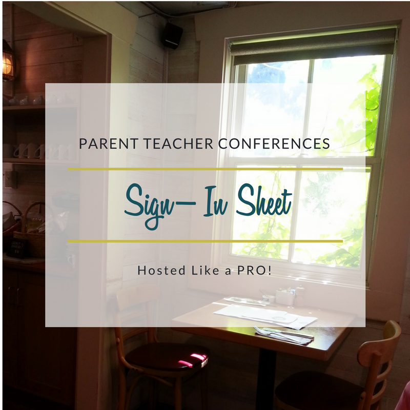 Sign-In Sheet for Parent Teacher Conferences