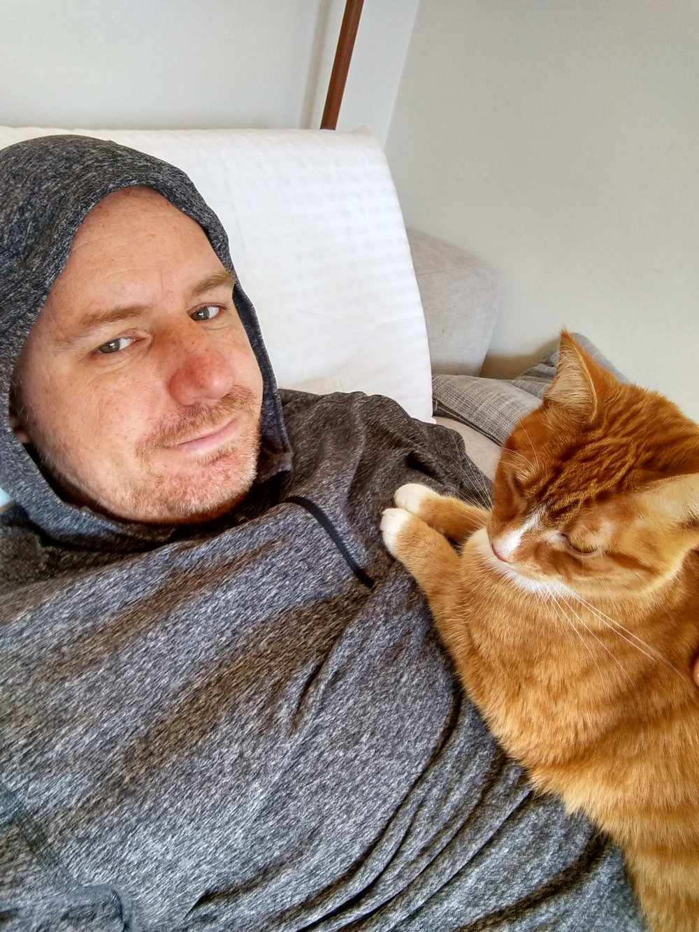James. Cat Person In Denial (CPID).  - Husband to cat lady.  Fashion and travel photographer. Sometimes cat photographer. Likes jumping off high things, adventure and snuggling ginger cats. Can be found reluctantly taking photos of cats.