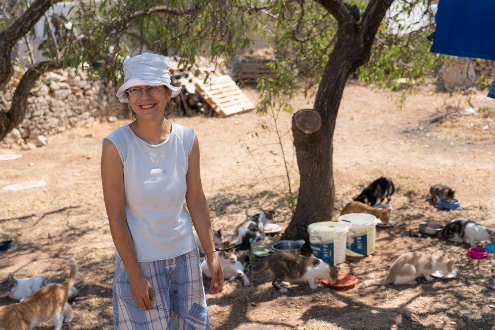 Anthie, patron saint of cats in Folegandros.