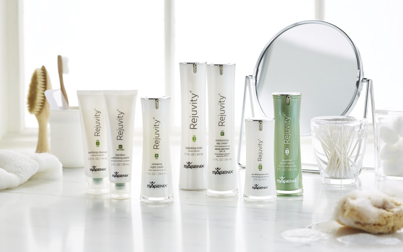 Skin Care - Hydrate, Illuminate and Rejuvenate with Rejuvity. • Smooths and evens the look of fine lines • Continuously hydrates • Protects, nourishes and evens skin tone