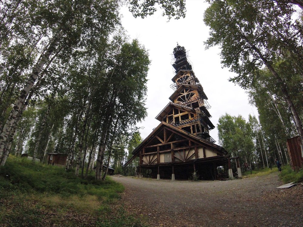 Dr. Seuss House, about a 20 minute drive from Willow, Alaska