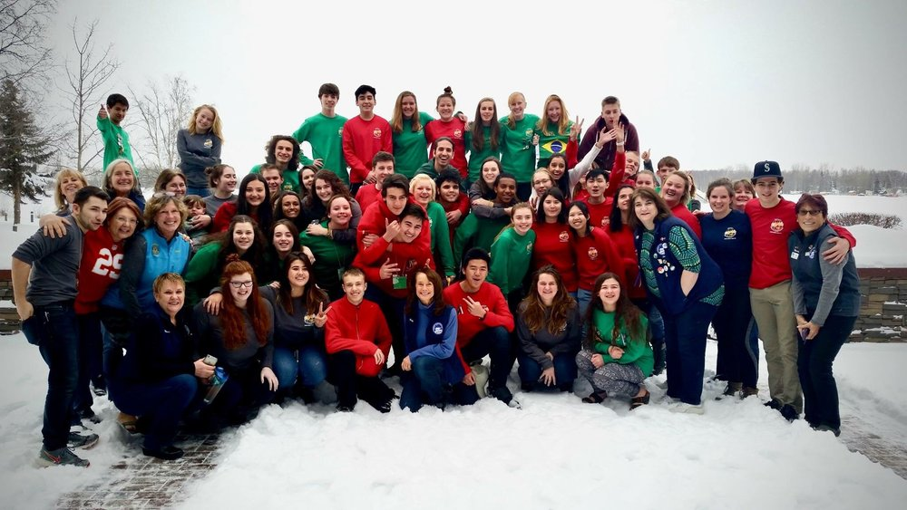 Winter Orientation - RED SHIRTS: INBOUNDS, GREY SHIRTS: REBOUNDS, & GREEN SHIRTS: OUTBOUNDS (I'm at the top right with the Brazil flag, go BRAZIIILLLL !!!!)