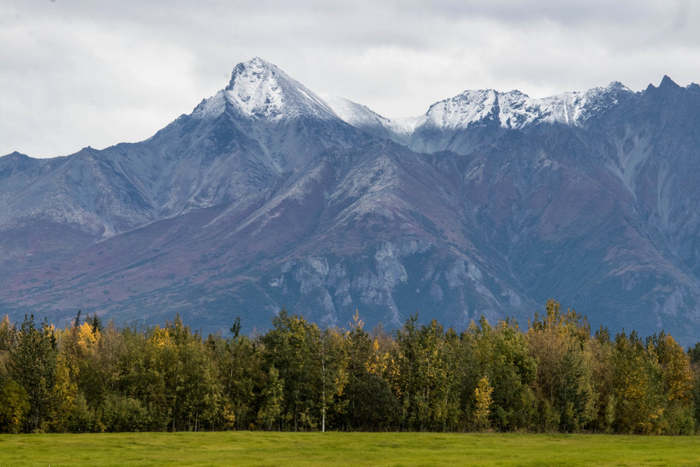 First sprinkling of powdered sugar on the mountain peaks - spotted 9/14/2017. Winter is coming. The colors of autumn are also emerging.