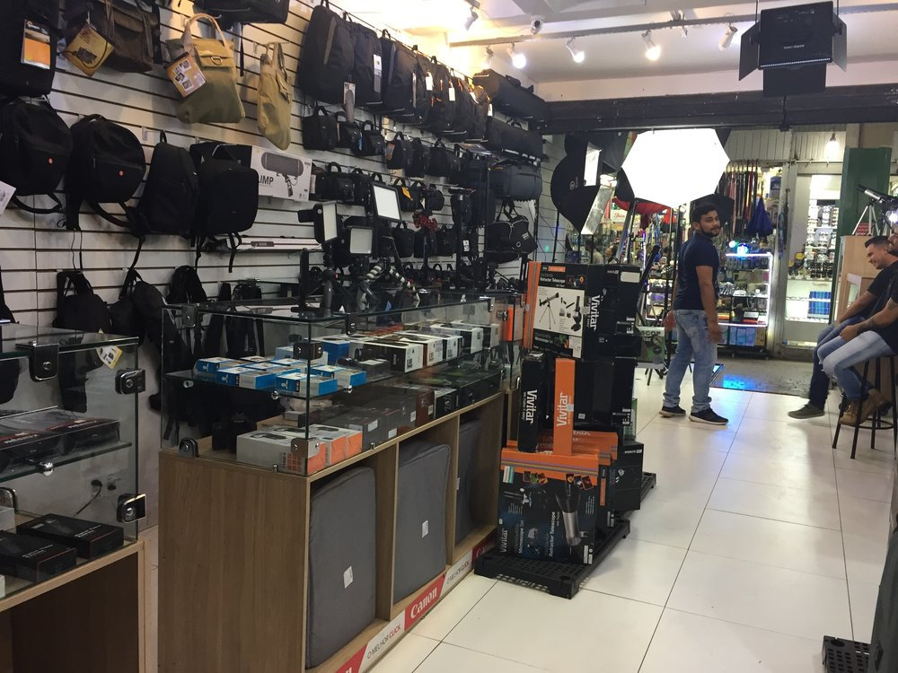 A photography store in the mall