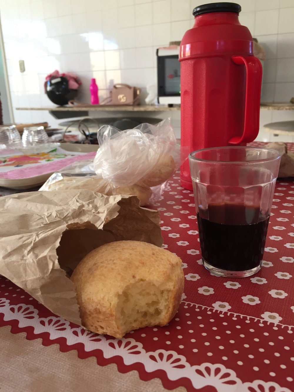 Pao de queijo and coffee, my favorite breakfast