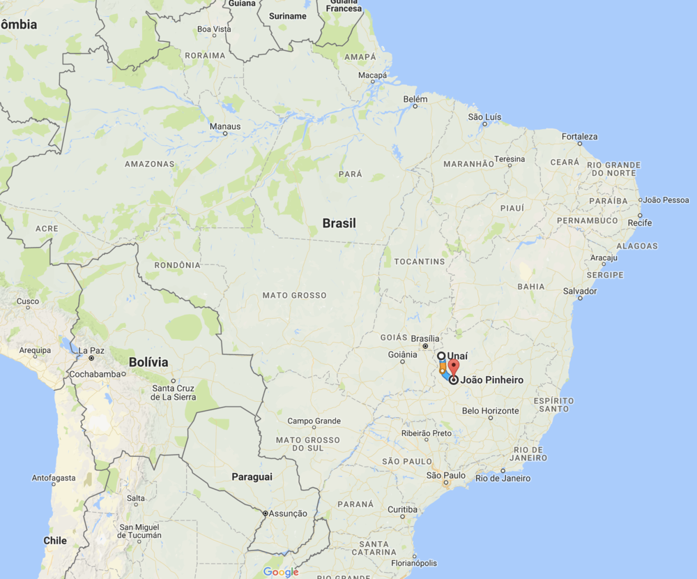 Brazil really is a huge country.