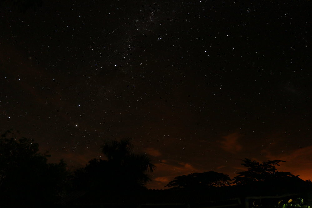 night sky from the farm