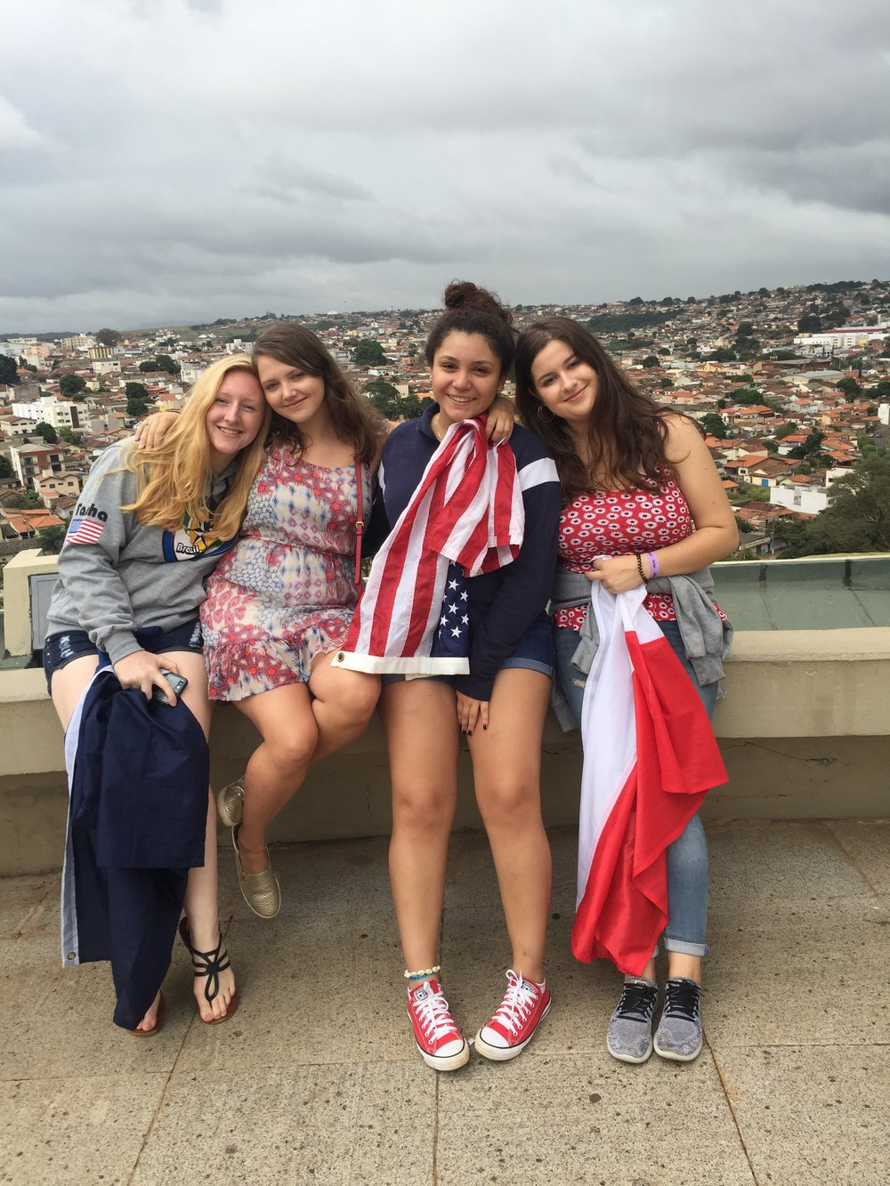 Alyssa, Tennessee, (I'll miss her southern accent), Greta, Mexico, and Aleksandra, Poland