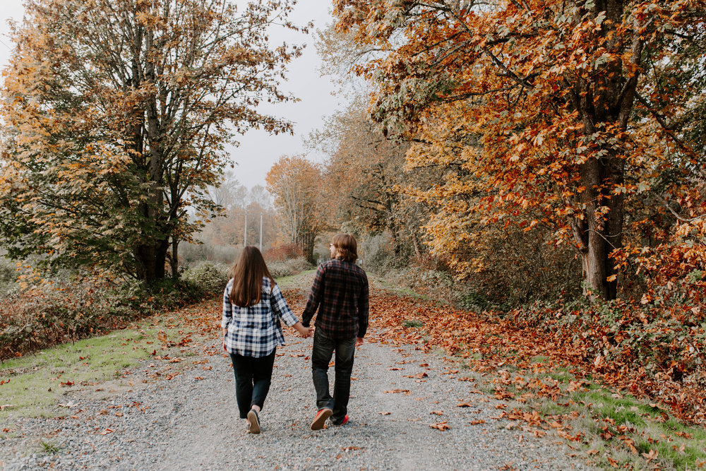 seattle fall engagement photos
