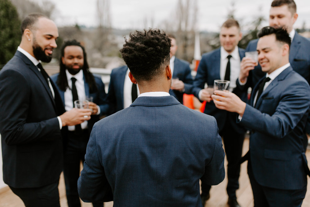 groomsmen urban seattle wedding