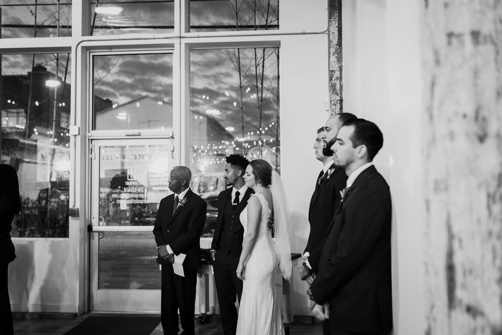 indoor seattle winter wedding photography