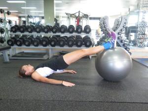 gym ball core