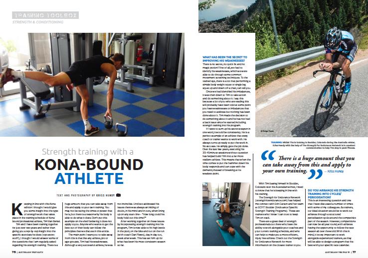 Strength Training with a Kona bound Athlete (Tim Berkel) -