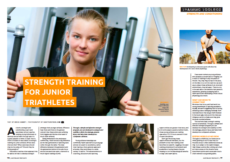 Strength Training for the Junior Athlete -