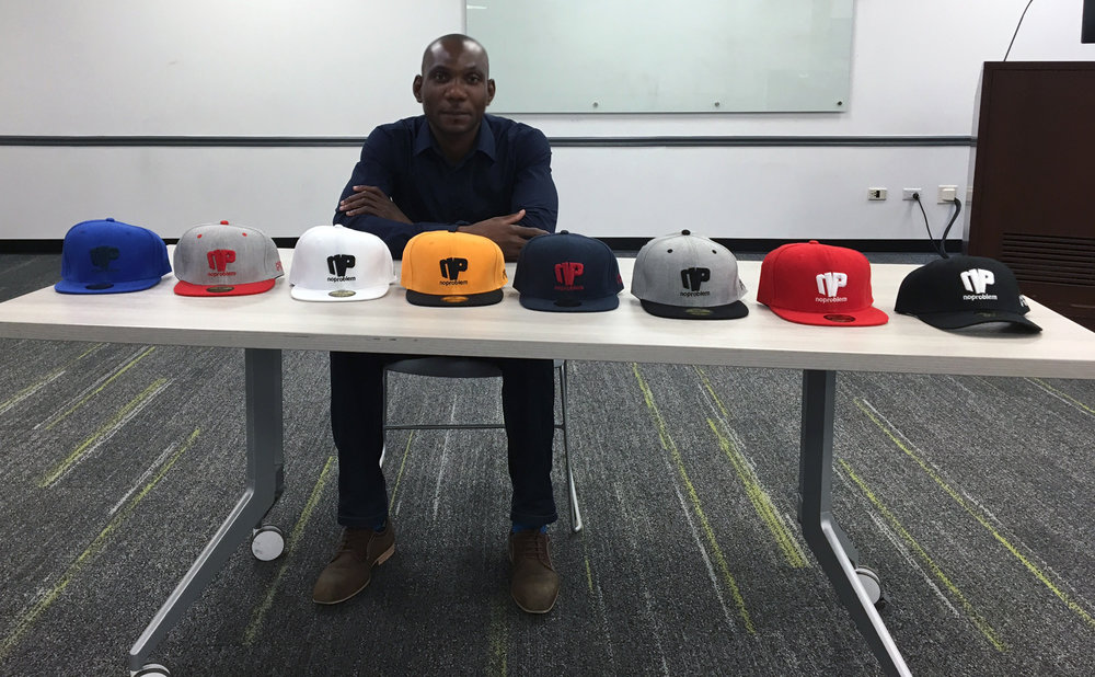 Born in the usa : the Brand noproblem™  - Pap Koudjo in Fordham University Conference Room in Manhattan, New York- Photo © Ellie Alter