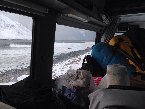 On the way – Photo credit Arctic Surfers