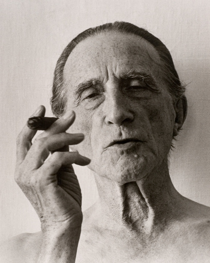 Marcel Duchamp, 1961, by Christer Strömholm.