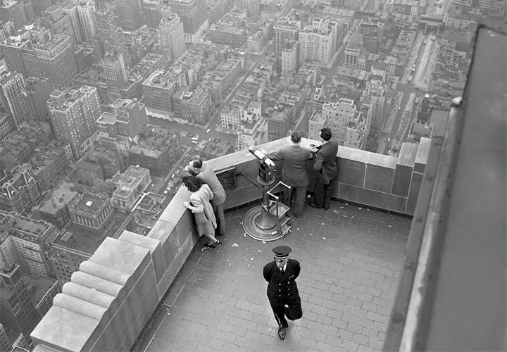 22 May 1947. View from the top of the Empire State Building. (Bettmann/CORBIS)