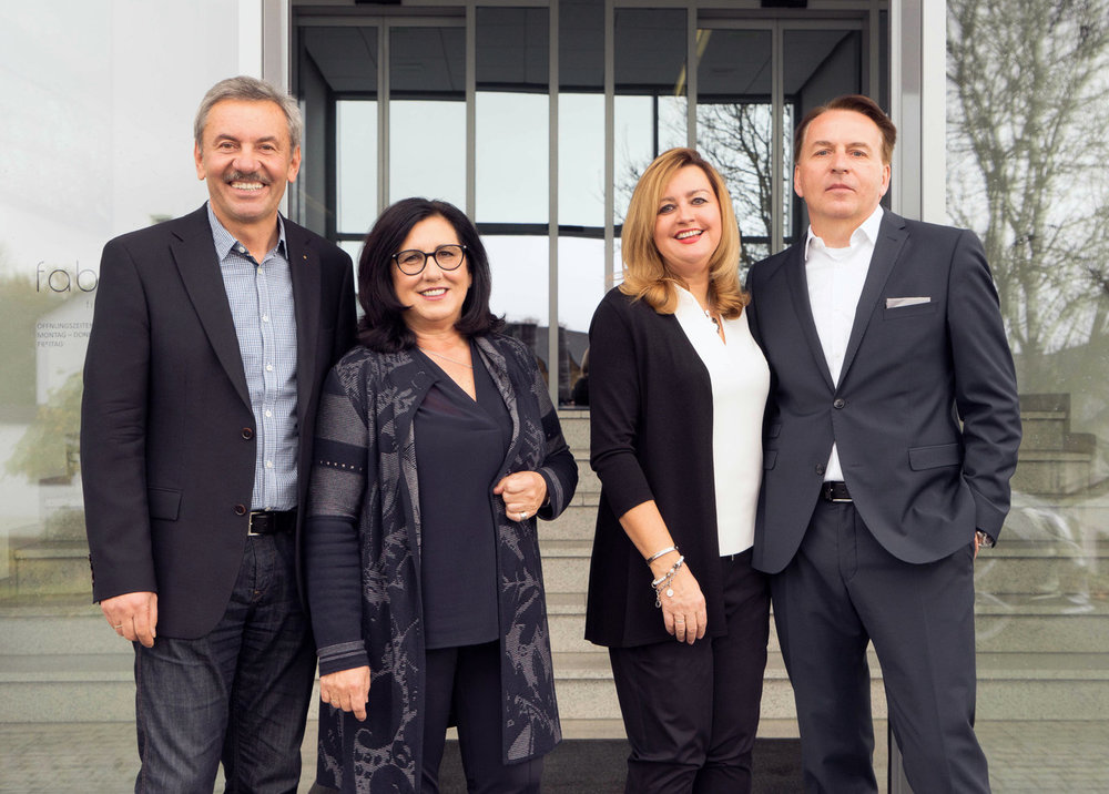 Faber Geschäftsführung (v.l.): Walter Faber, Martina Faber, Benita Faber und Markus Faber