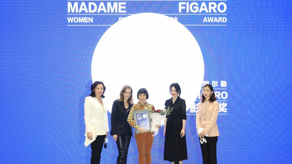Pixy Liao receiving the Jimei x Arles - Madame Figaro Women Photographers Award