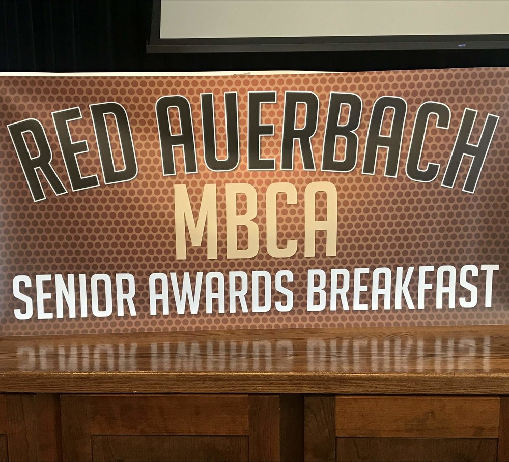 2018 Red Auerbach Senior Awards Breakfast   The Red Auerbach MBCA Senior Awards Breakfast celebrating student-athlete athletic and academic achievements from the 2017-2018 season took place at the College of the Holy Cross on Sunday, June 17, 2018. Click the button below to view photos from the event.