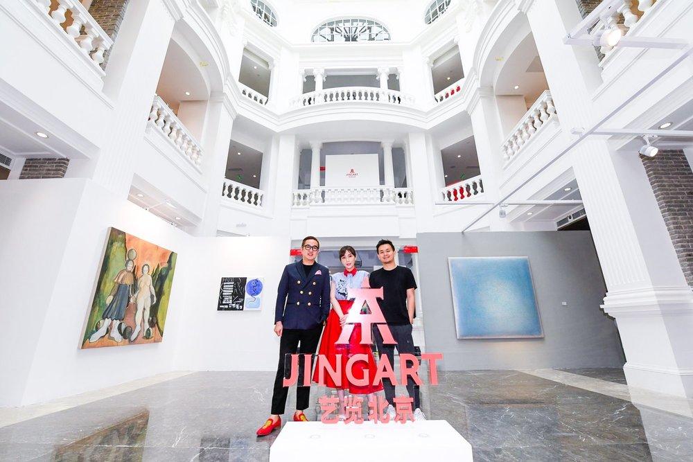 Les trois fondateurs de JingArt : Bao Yifeng, Ying Qinglan et Zhou Dawei