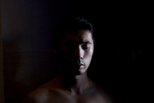 Shen Wei,  Self-portrait (Cusco),  2013. Impression pigmentaire. © Autorisation de l'artiste et de Flowers Gallery (Londres/New York).